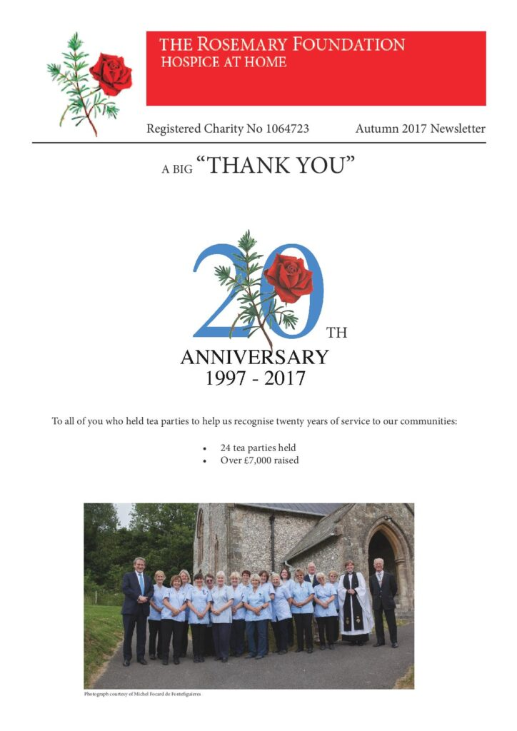 The Rosemary Foundation Autumn Newsletter 2017