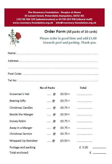 xmas cards posted to uk address